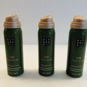 Other - 3 x rituals foaming shower gel travel size